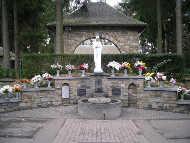 The place of the spring in Banneux