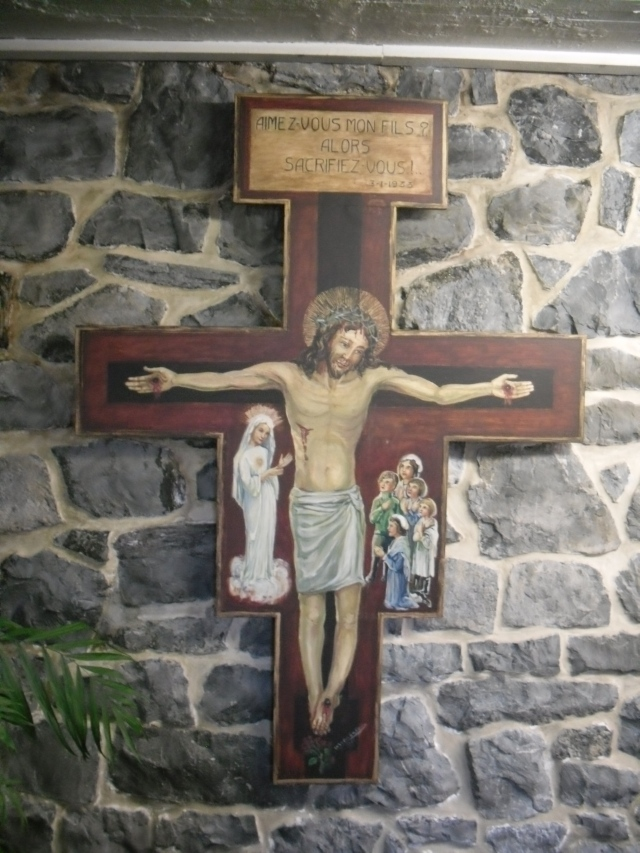 Crucifix in the Crypt at Beauraing