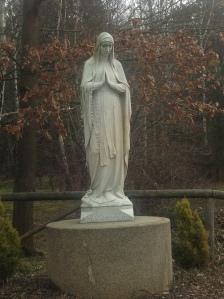 Our Lady of Banneux - White Marble (1)