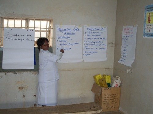 A nurse tutor in a CAFOD-funded project to teach skills to nurses in Jos, Nigeria