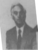 Black and white photo of Mr R. I. Denis Jones JP, former headmaster of Graig Comprehensive School, Llanelli