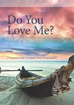 "The front cover of the book ""Do You Love Me?"" with a red sky and a fishing boat on a shore"